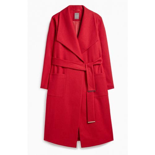 Roter Jacken Mit GürtelMäntel Kleidung Mantel kiPZuX
