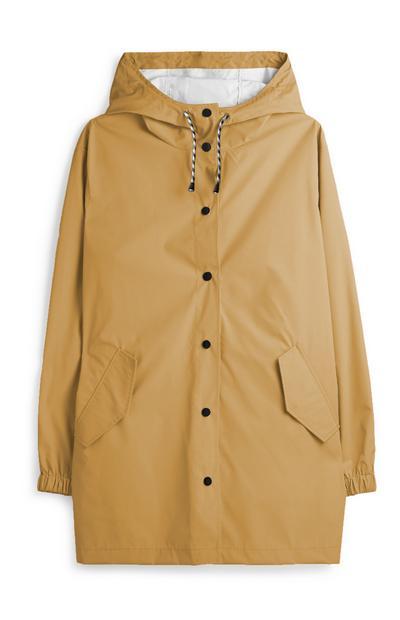 Beige Rubber Raincoat