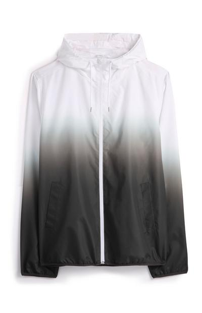 Grey Ombre Windbreaker Jacket