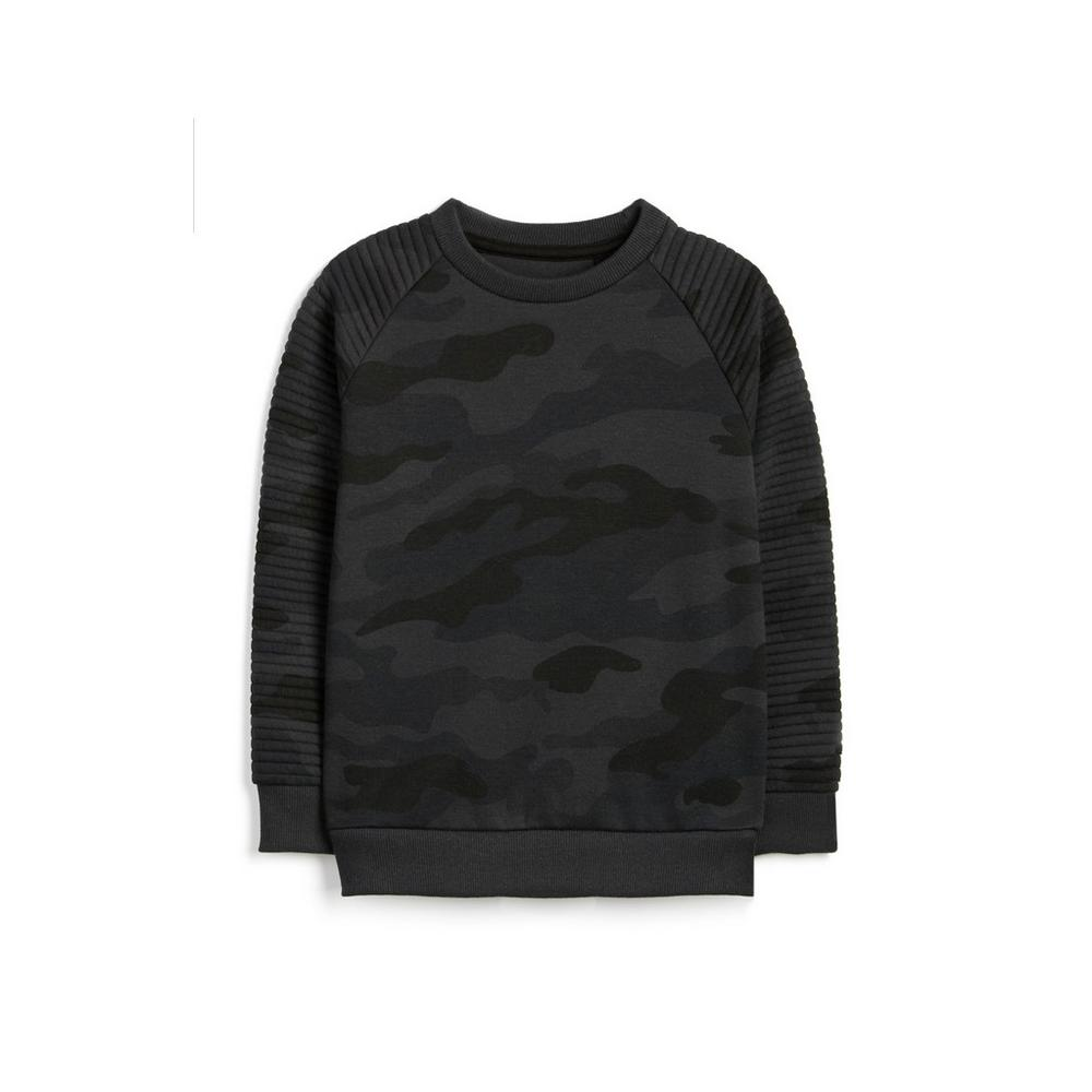 nice cheap beauty vast selection Sweat-shirt gris camouflage garçon | Mode garçon 2 à 7 ans ...