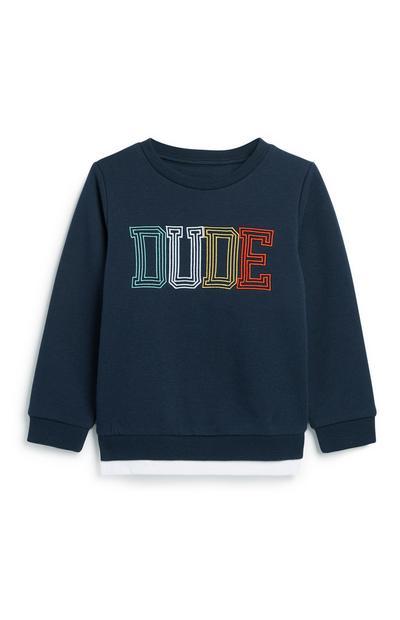 Younger Boy Slogan Sweatshirt