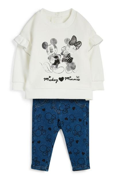 Baby Girl Mickey And Minnie Outfit 2Pc