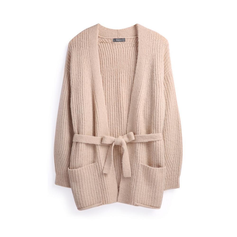timeless design 34dd8 5cce0 Cardigan color cammello con cintura | Cardigan | Maglioni e ...
