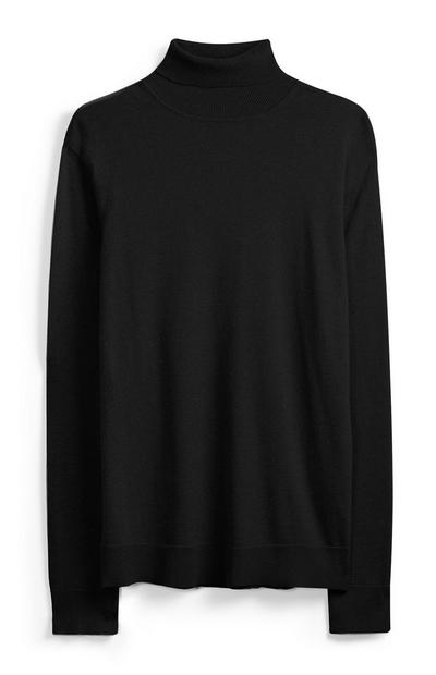 Black Halter Neck Jumper