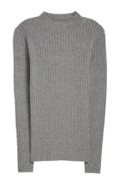 Grey Crew Neck Jumper