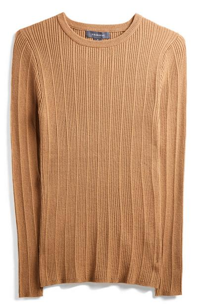 Brown Crew Neck Jumper