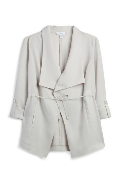 Light Grey Waterfall Jacket