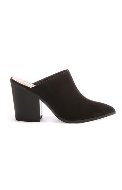 Black Closed Toe Mule