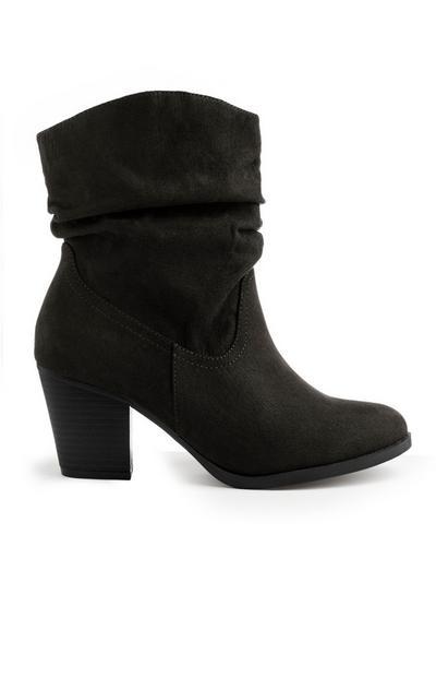 Black Western Heel Boot