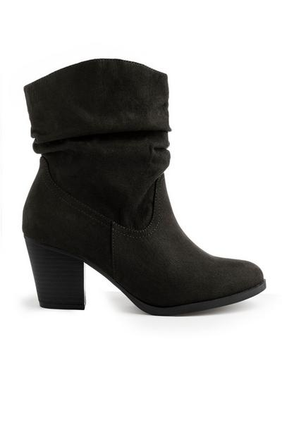 Black Western Heel Boot