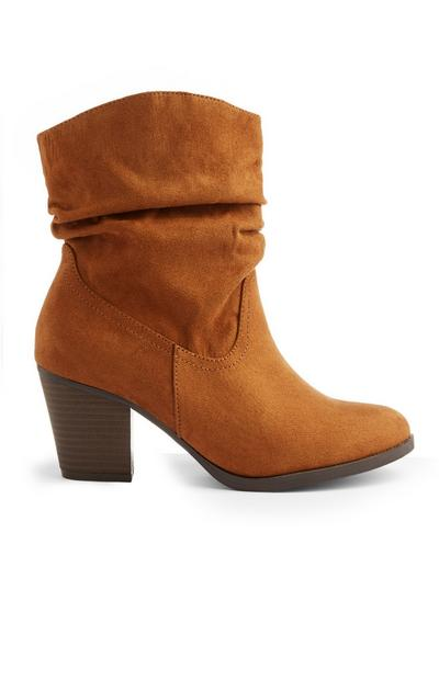 Tan Western Heel Boot