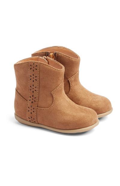 Baby Girl Tan Boots