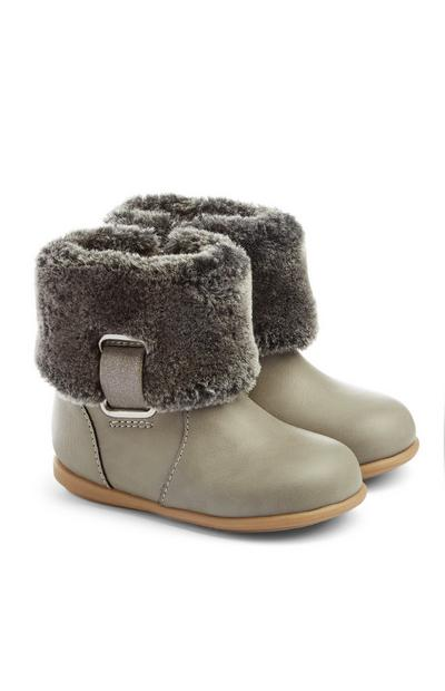 Baby Girl Grey Boots
