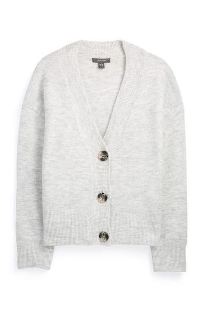 Grey Button Down Cardigan