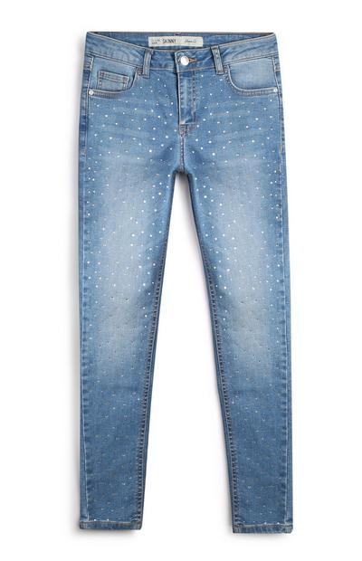 Older Girl Diamante Jeans