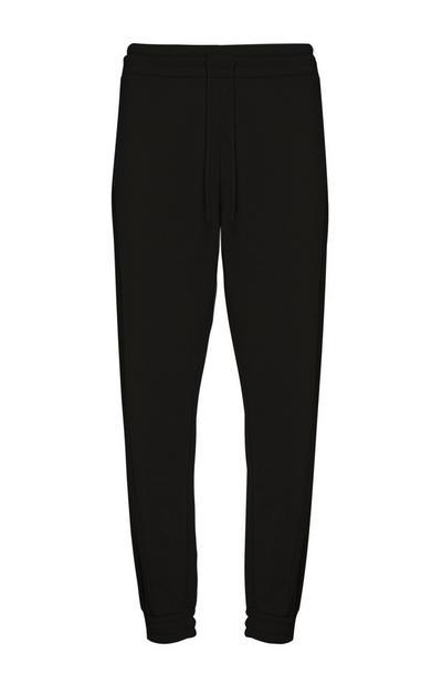Black Nylon Jogger