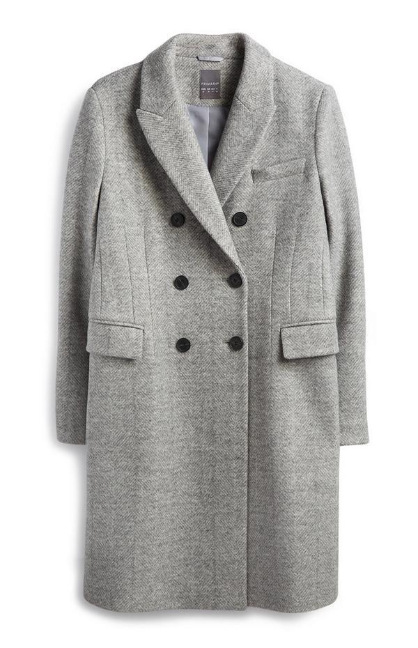 Grey Herringbone Coat