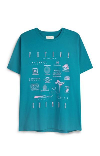 Blue Multi Logo T-Shirt