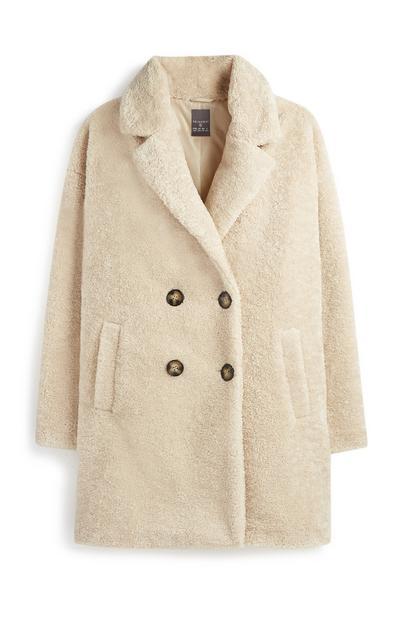 Ivory Faux Fur Coat