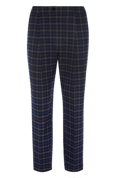 Navy Check Trouser