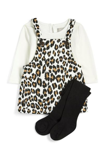 Baby Girl Leopard Print Dress And Tights