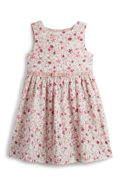 Younger Girl Pink Floral Dress