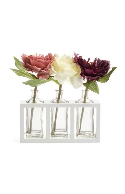 Flower Trio In Glass Jar