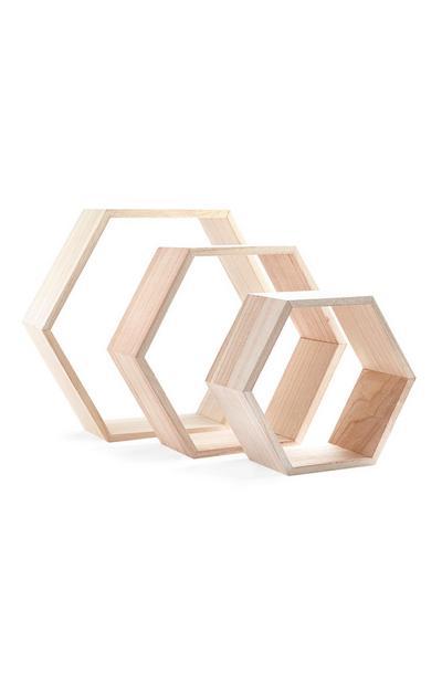 Hexagonal Shelves 3Pk