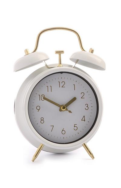 White Mini Alarm Clock
