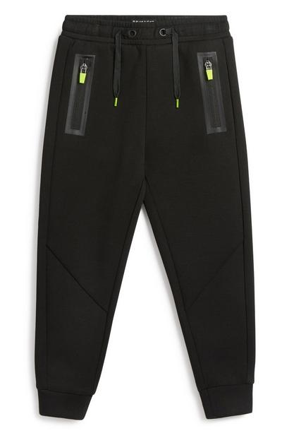 Younger Boy Sporty Black Jogger
