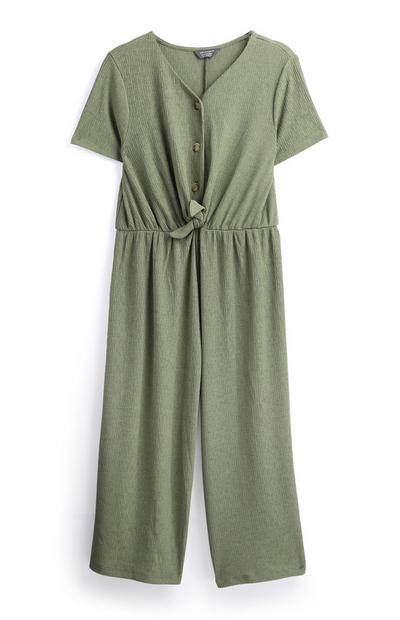 Older Girl  Tie Front Jumpsuit