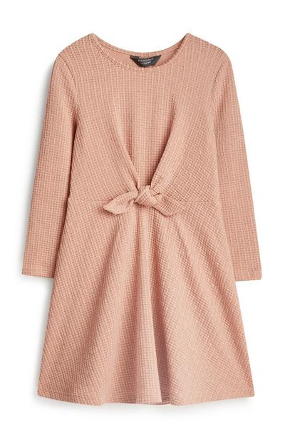 Younger Girl Tie Front Dress