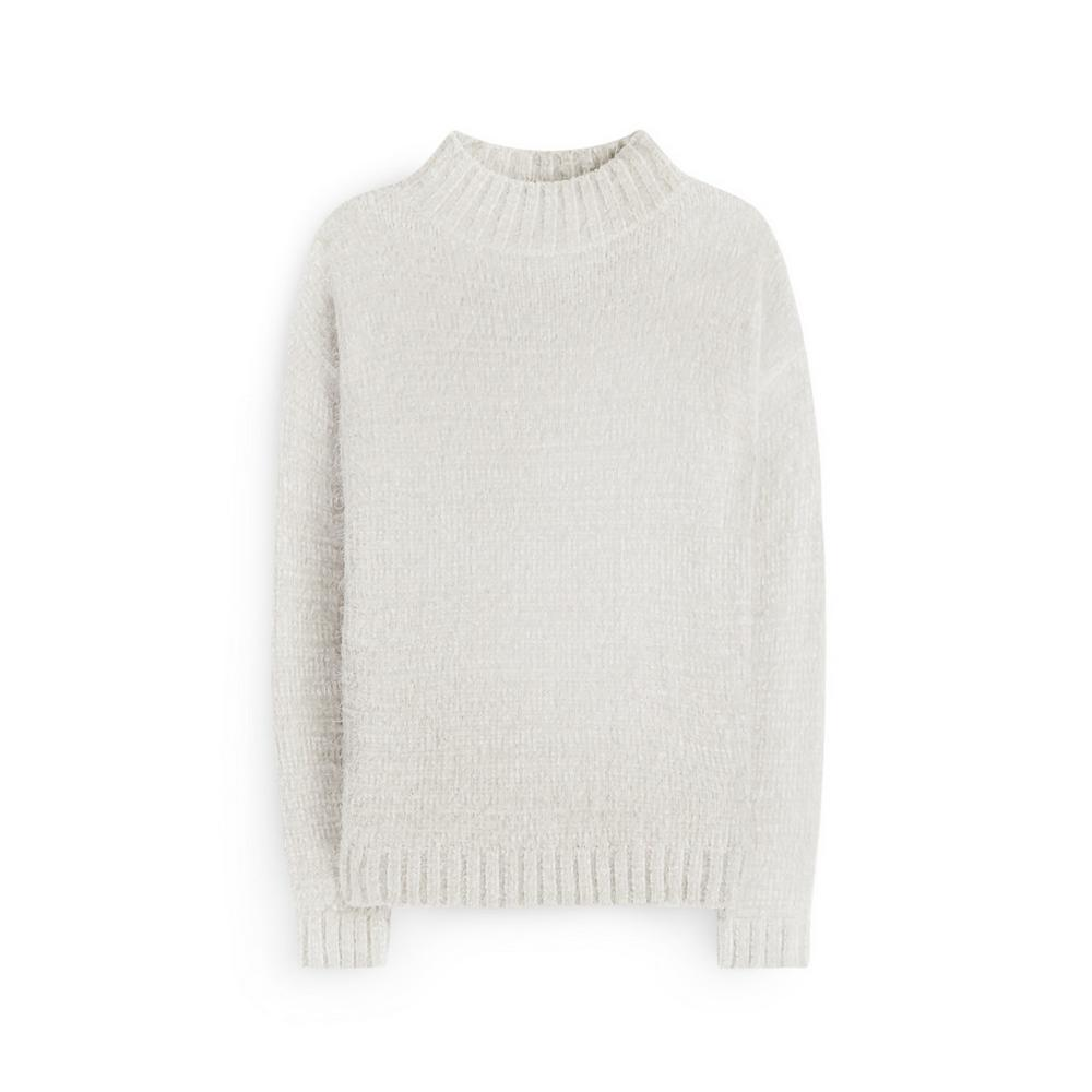 White Fluffy Jumper by Primark