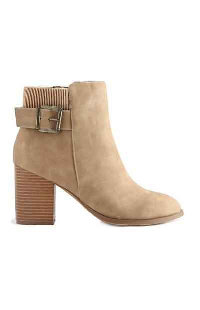 Taupe Buckle Boot