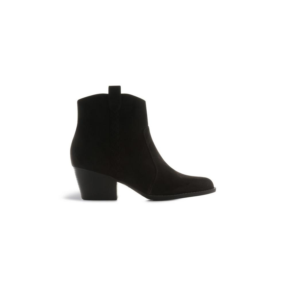 nuevas variedades zapatos clasicos producto caliente Botines negros estilo cowboy | Botas | Zapatos y botas ...