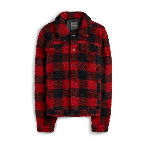 Fleece Clothing Check Jackets Teddy Red JacketCoats JlKT1Fc