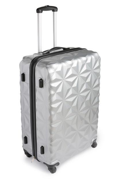 Medium Silver Suitcase