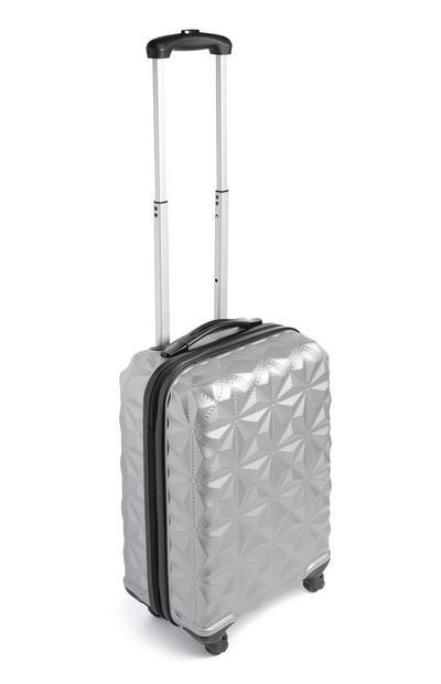 Small Silver Cabin Suitcase