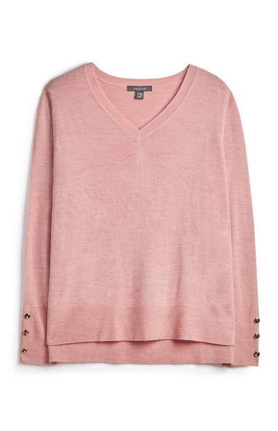 Blush V Neck Sweatshirt
