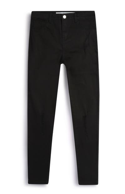 Older Girl Grey Black Skinny Jeans
