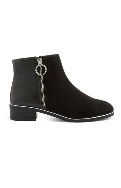 Black Side Zip Boot
