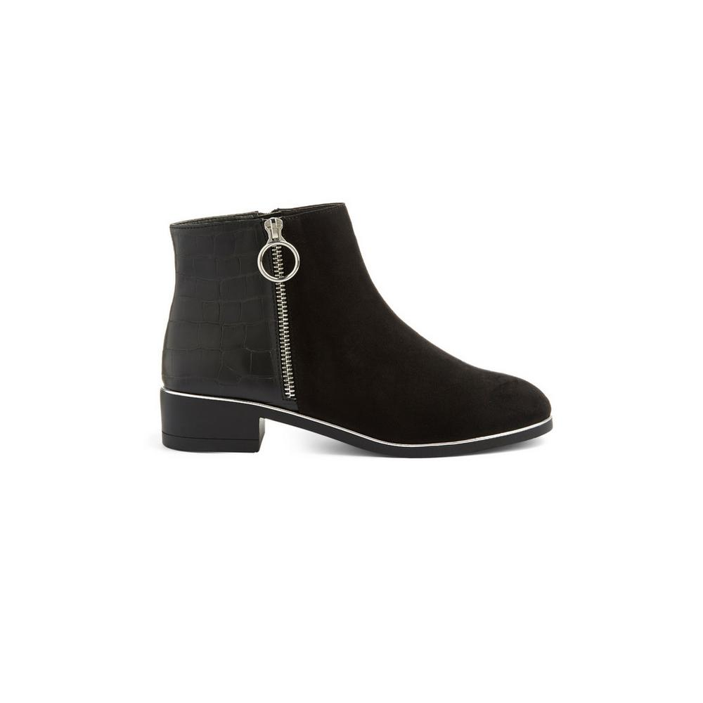 02831f2b8f1 Black Side Zip Boot | Boots | Shoes & Boots | Womens | Categories ...