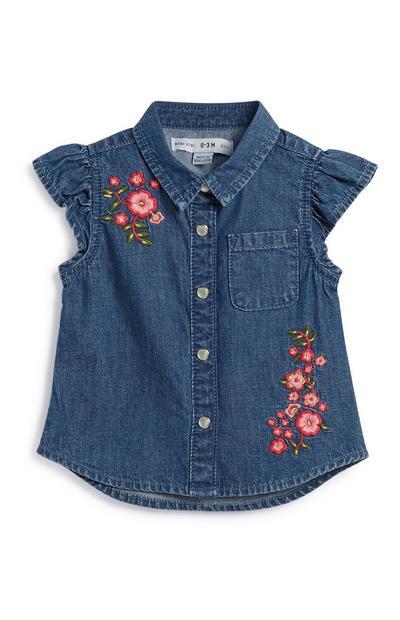 Baby Girl Denim Shirt