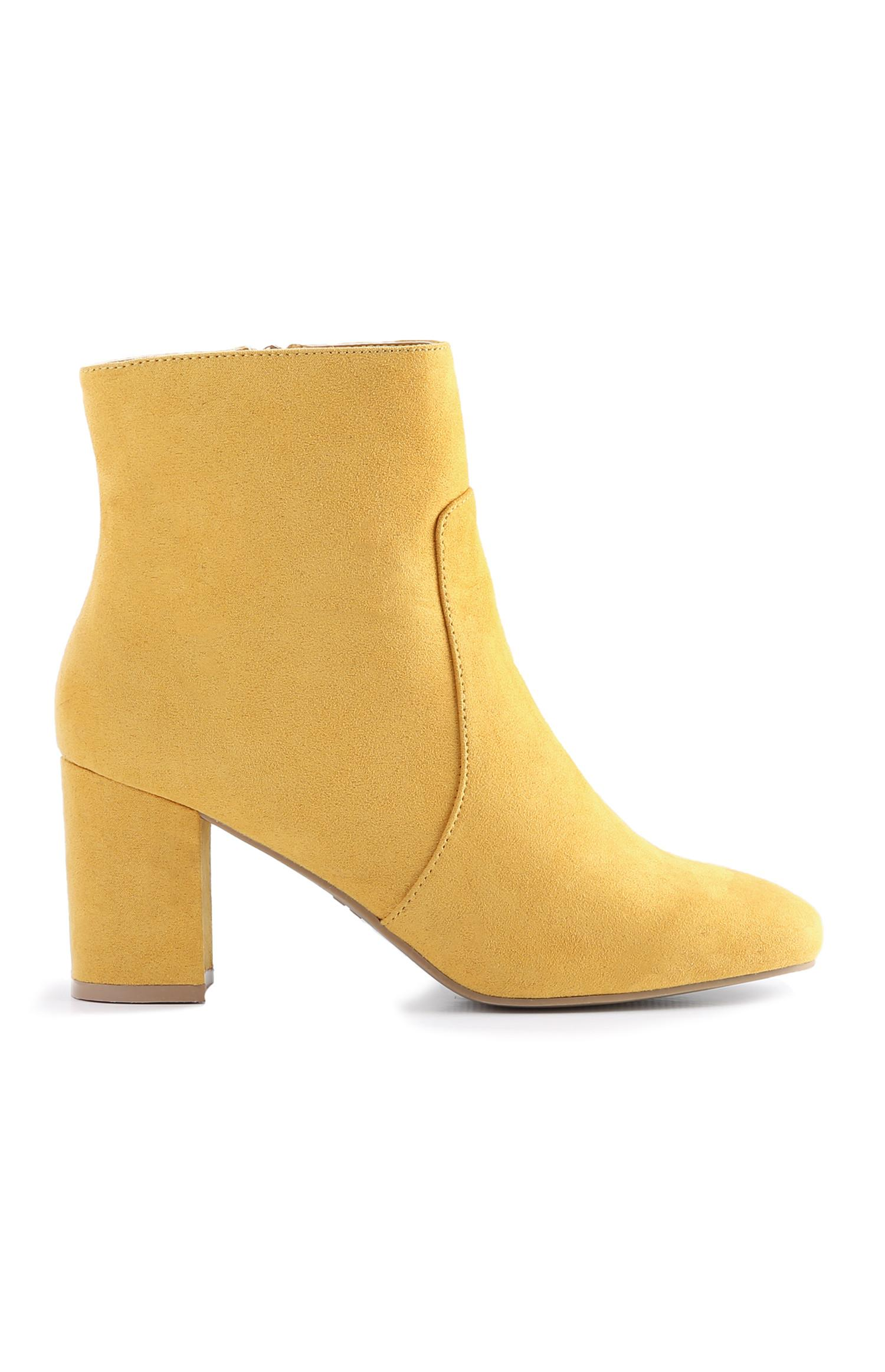 be6c1951c08 Yellow Block Heel Boot | Boots | Shoes & Boots | Womens | Categories ...