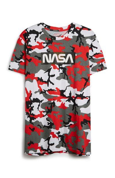 Camoflague Print NASA T-Shirt
