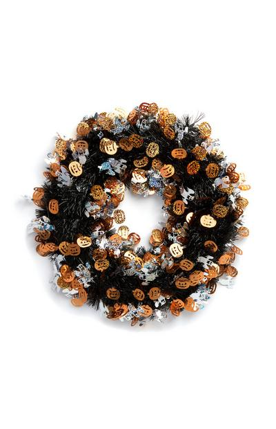 Halloween Tinsel Wreath