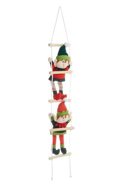 Elf Ladder Christmas Decoration