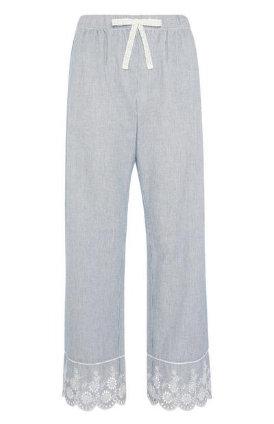 Blue Stripe Pyjama Trouser