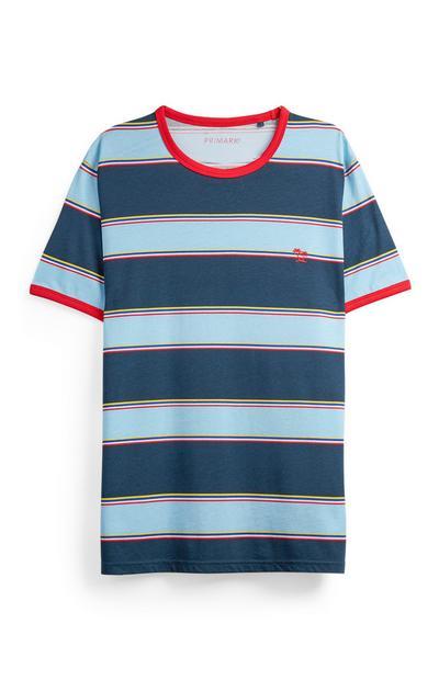 T-Shirt mit Retro-Streifen