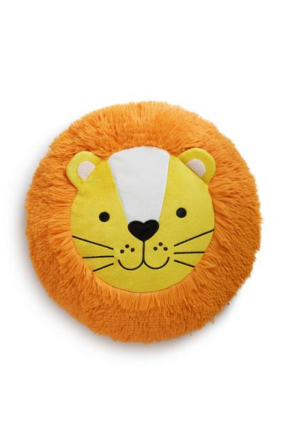 Orange Kids Pom Pom Cushion